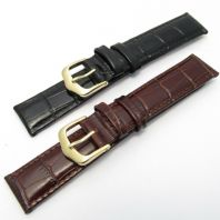 CONDOR Padded Croc Grain Leather Watch Strap 18mm 087R